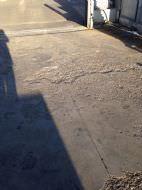 Condizione della pavimentazione in calcestruzzo